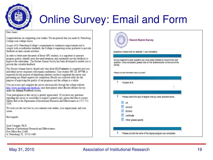 Online Survey: Email and Form