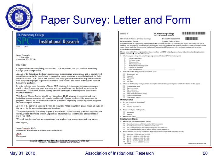 Paper Survey: Letter and Form