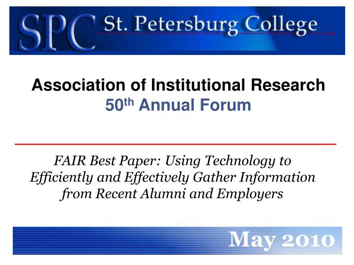Association of Institutional Research