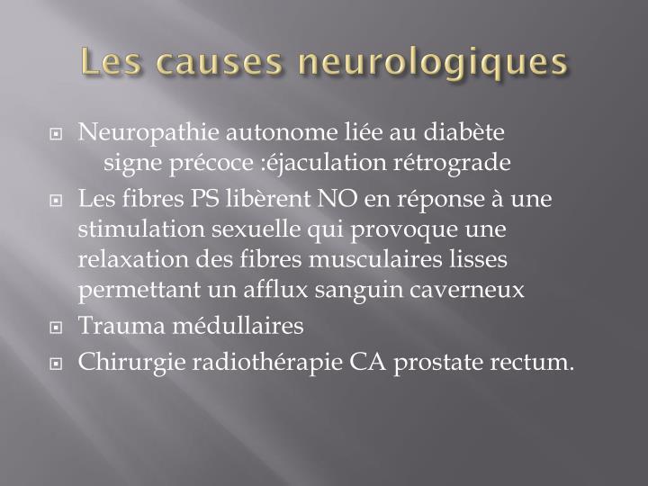 Les causes neurologiques