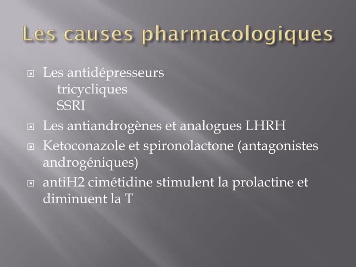 Les causes pharmacologiques