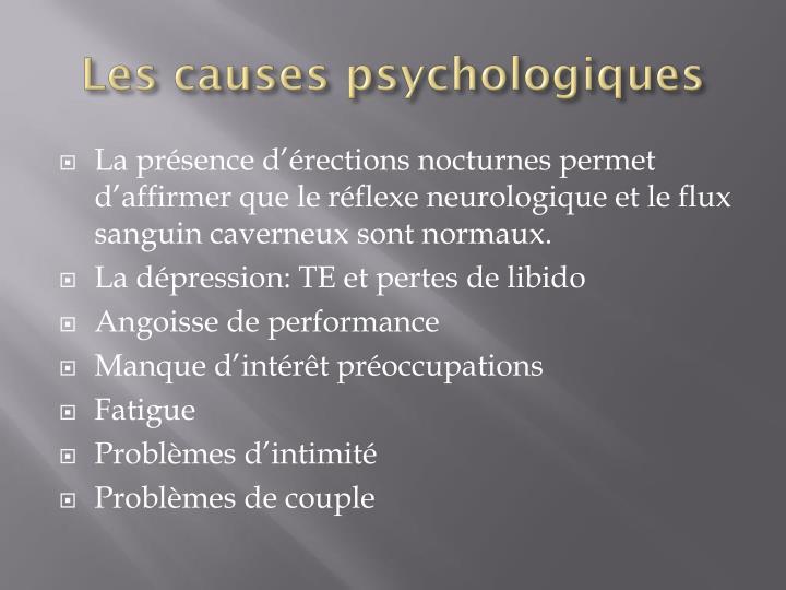 Les causes psychologiques