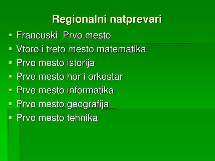 Regionalni natprevari