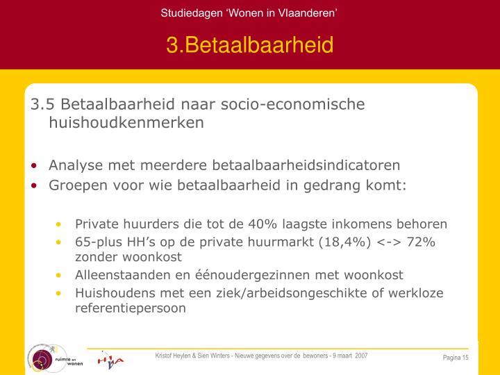 3.Betaalbaarheid