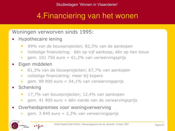 4.Financiering van het wonen
