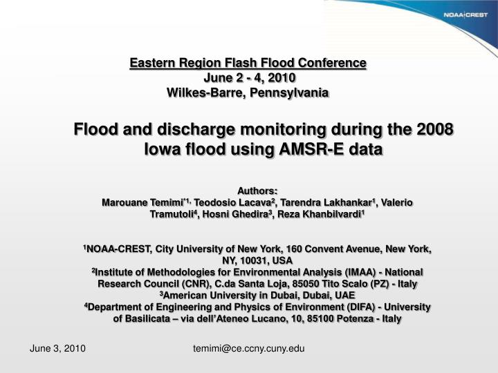 Eastern Region Flash Flood Conference