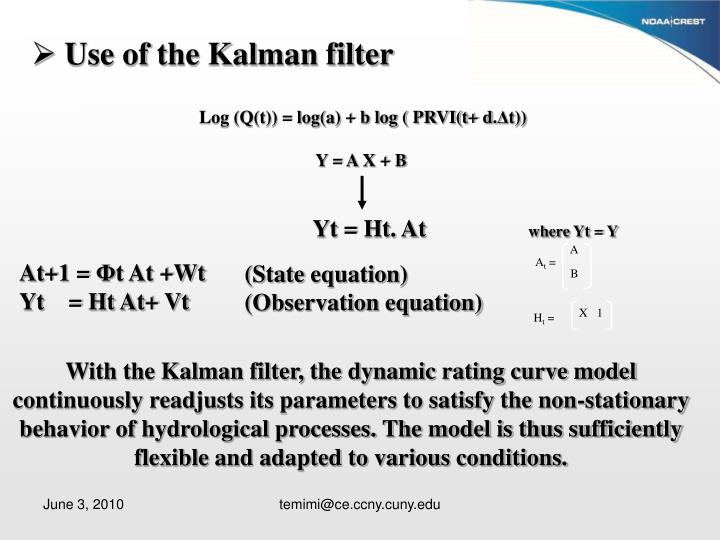 Use of the Kalman filter