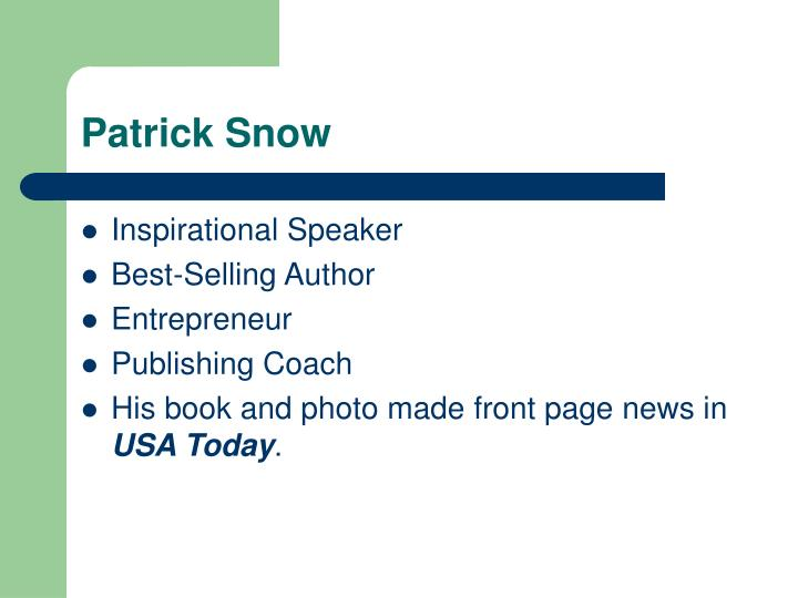 Patrick Snow