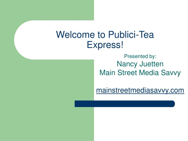 Welcome to publici tea express