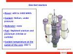 gas fast reactors