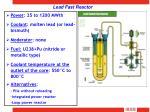 lead fast reactor