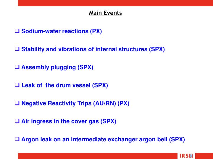 Sodium-water reactions (PX)