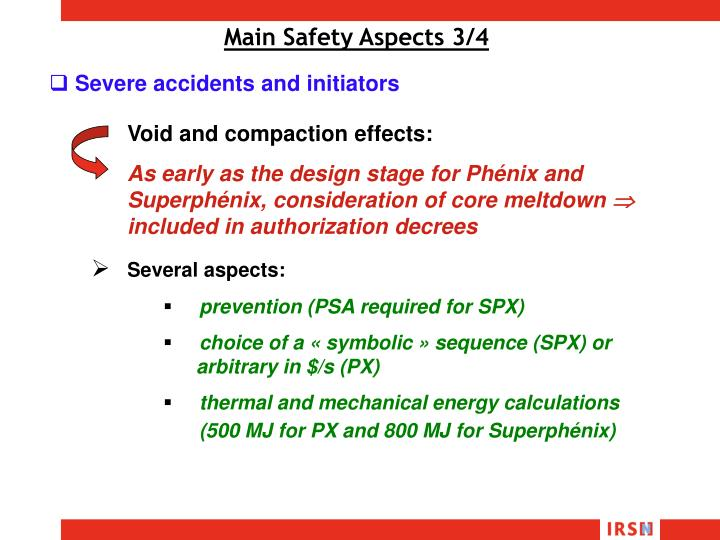 Main Safety Aspects 3/4