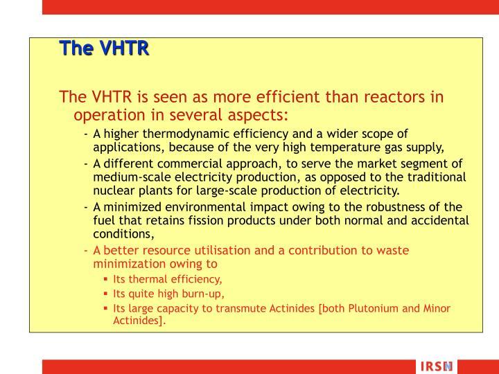The VHTR