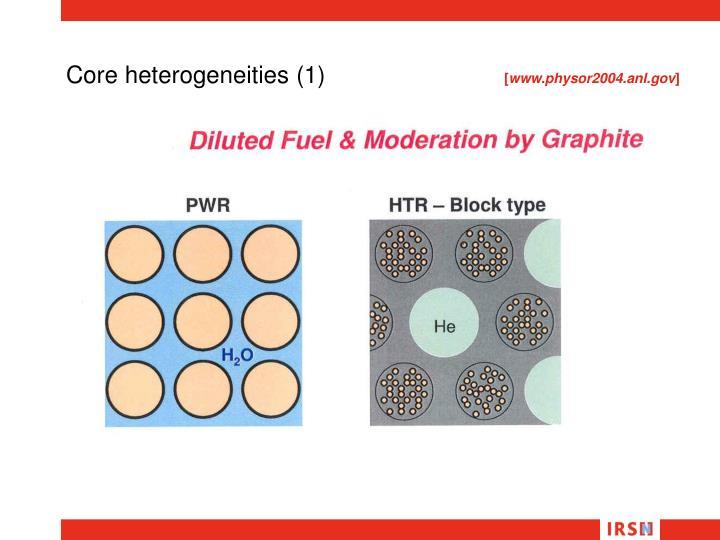 Core heterogeneities (1)