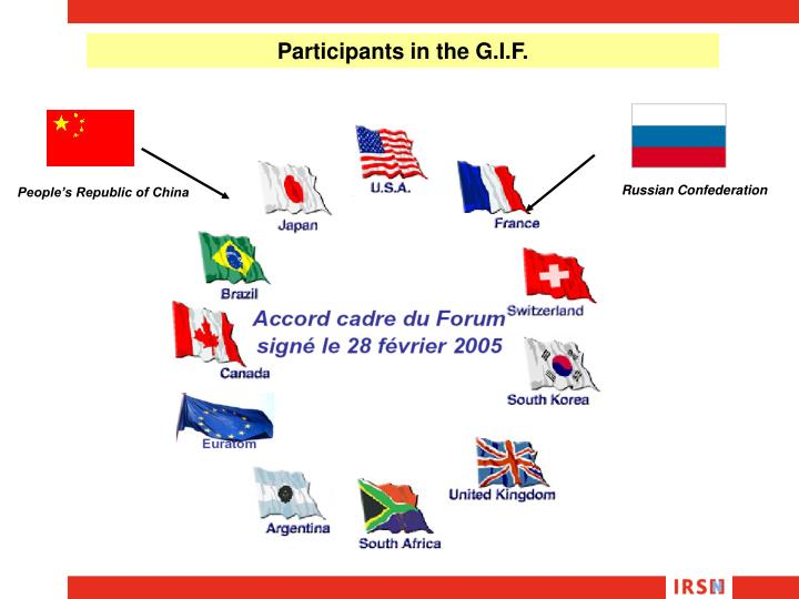 Participants in the G.I.F.