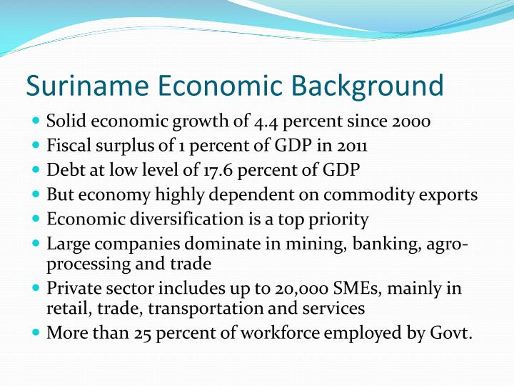 Suriname Economic Background