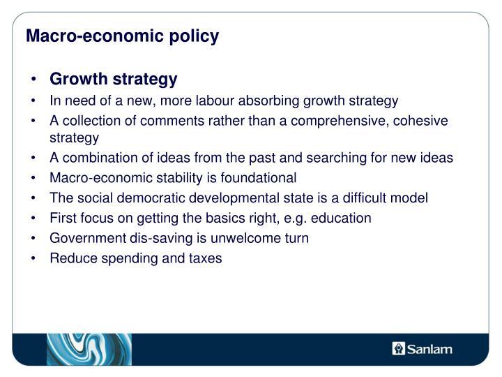 Macro-economic policy