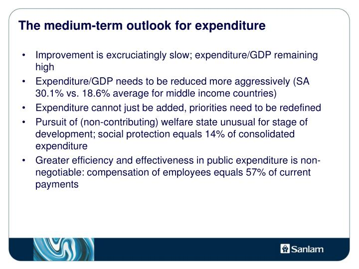 The medium-term outlook for expenditure