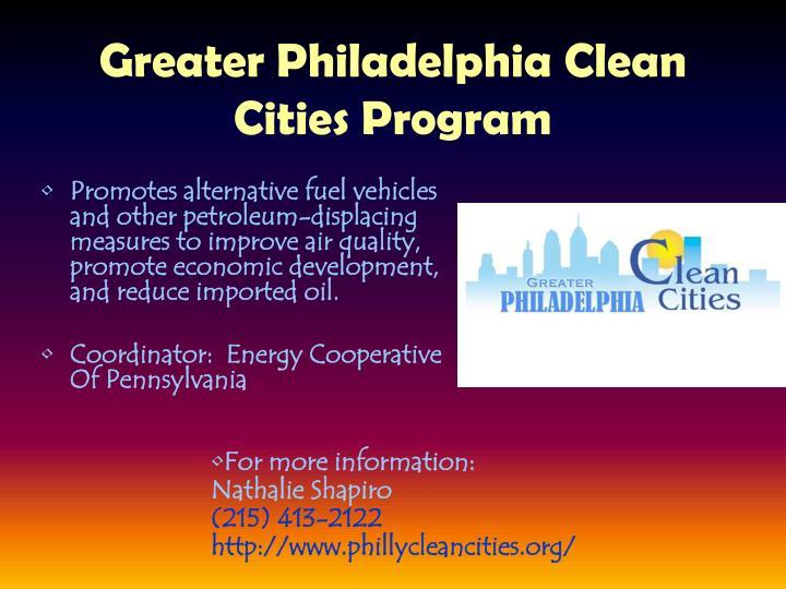 Greater Philadelphia Clean Cities Program