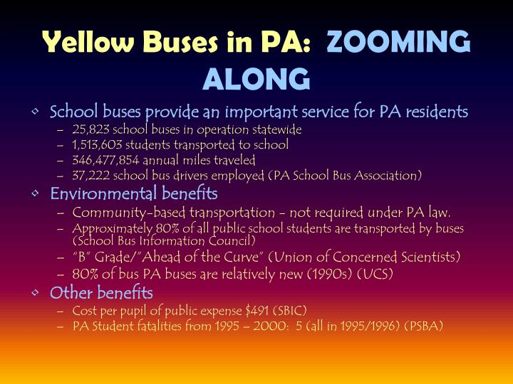 Yellow Buses in PA: