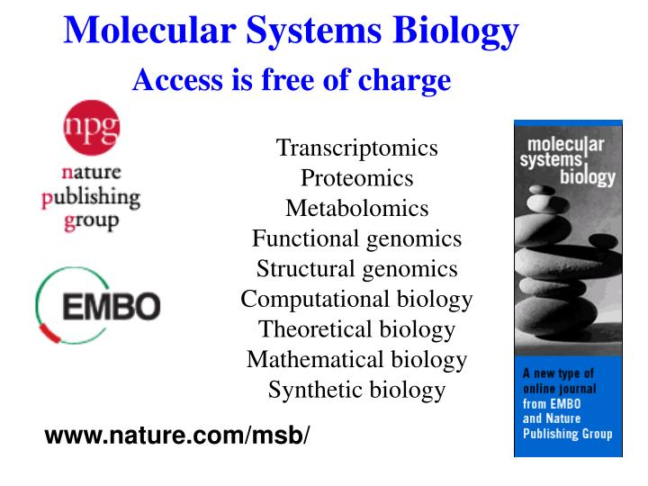 Molecular systems biology access is free of charge