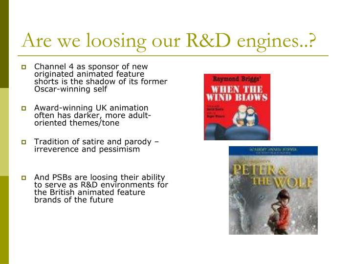 Are we loosing our R&D engines..?