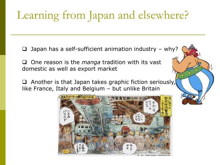 Learning from Japan and elsewhere?