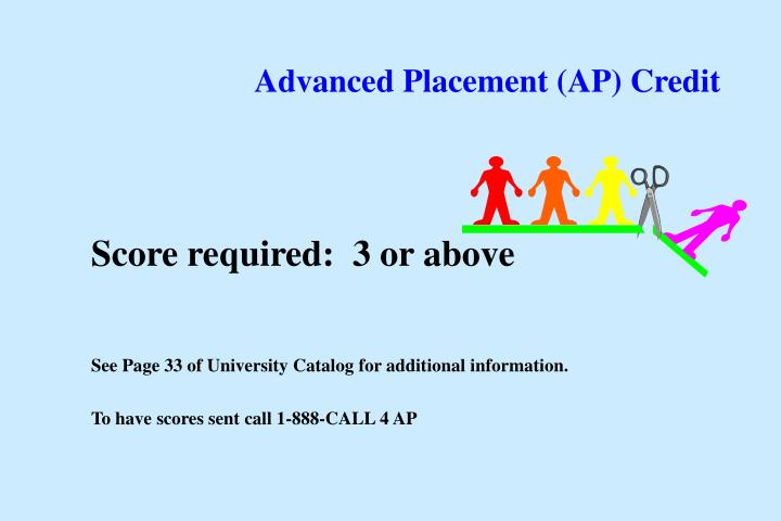 Advanced Placement (AP) Credit