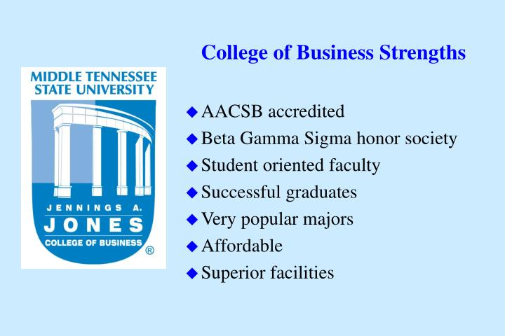 College of business strengths