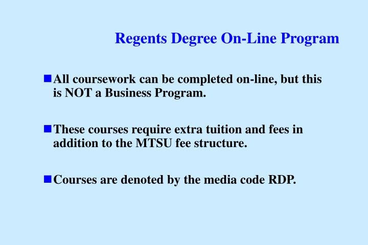 Regents Degree On-Line Program