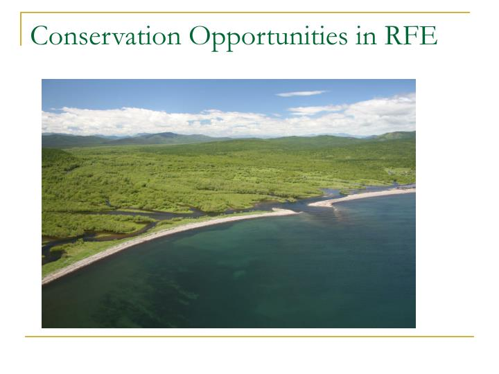 Conservation Opportunities in RFE