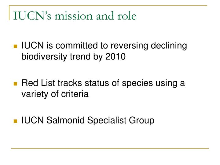 IUCN's mission and role