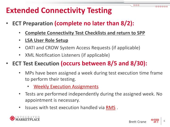 Extended Connectivity Testing