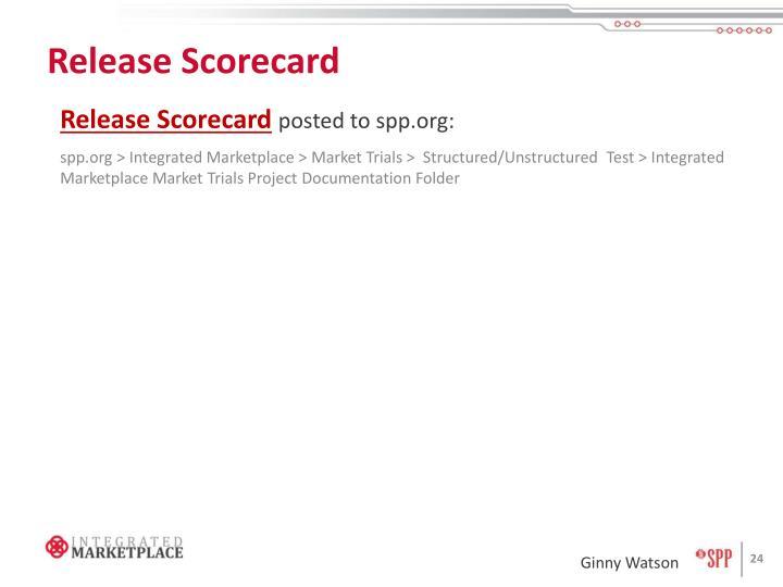 Release Scorecard