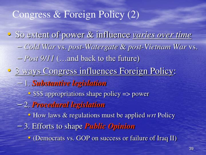 Congress & Foreign Policy (2)