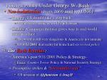 foreign policy under george w bush
