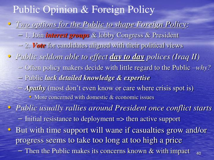 Public Opinion & Foreign Policy
