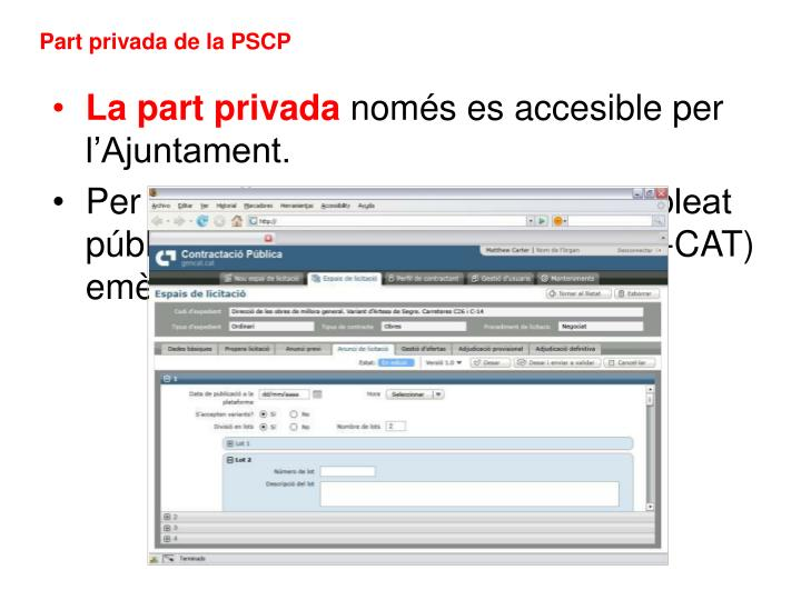 Part privada de la PSCP