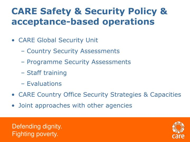 CARE Safety & Security Policy &