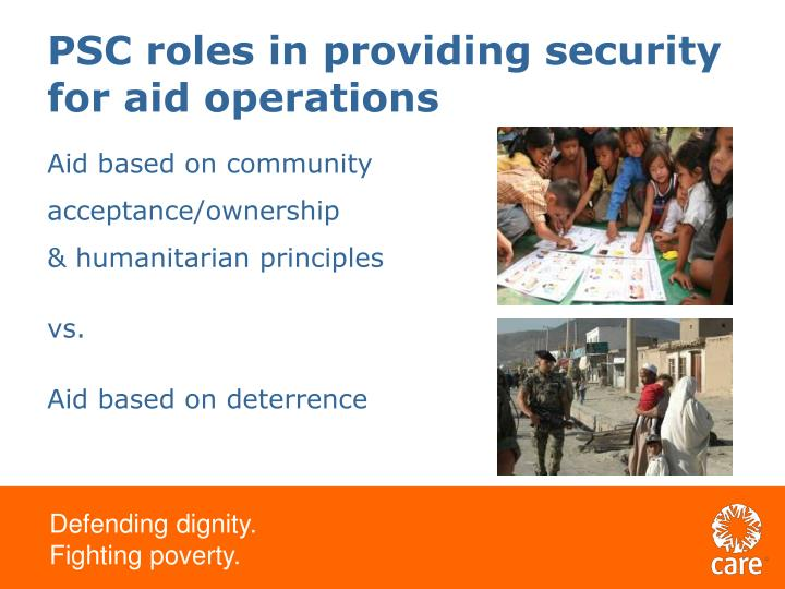 PSC roles in providing security