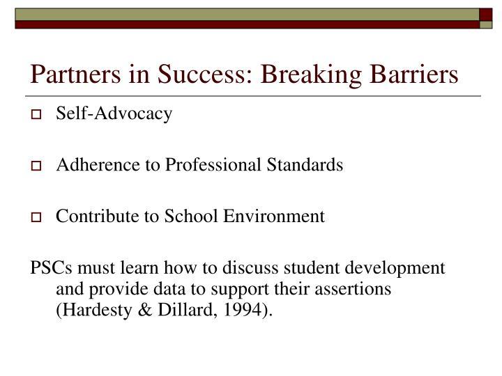 Partners in Success: Breaking Barriers