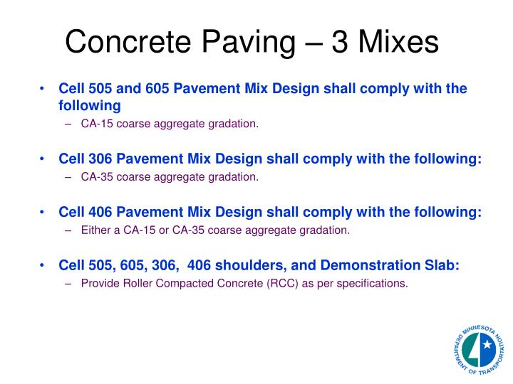 Roller Compacted Concrete Specifications : Ppt s p mnroad reconstruction powerpoint