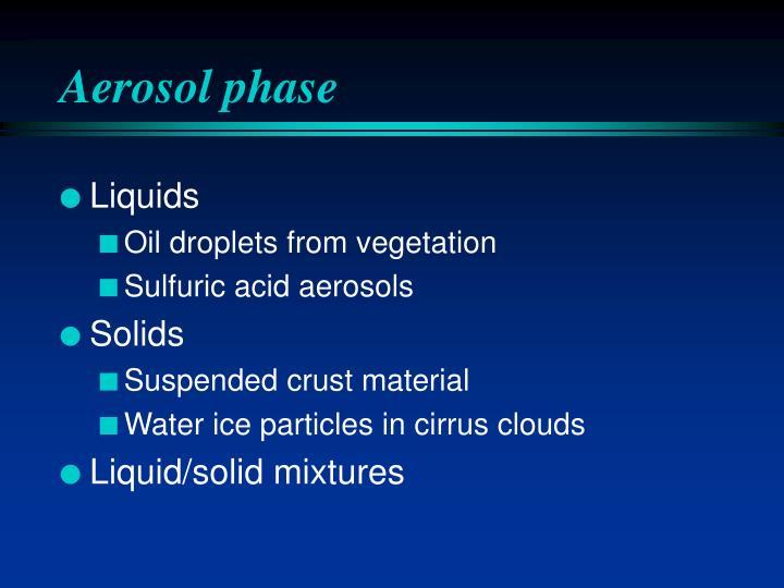 Aerosol phase
