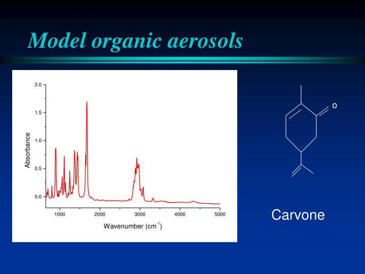 Model organic aerosols