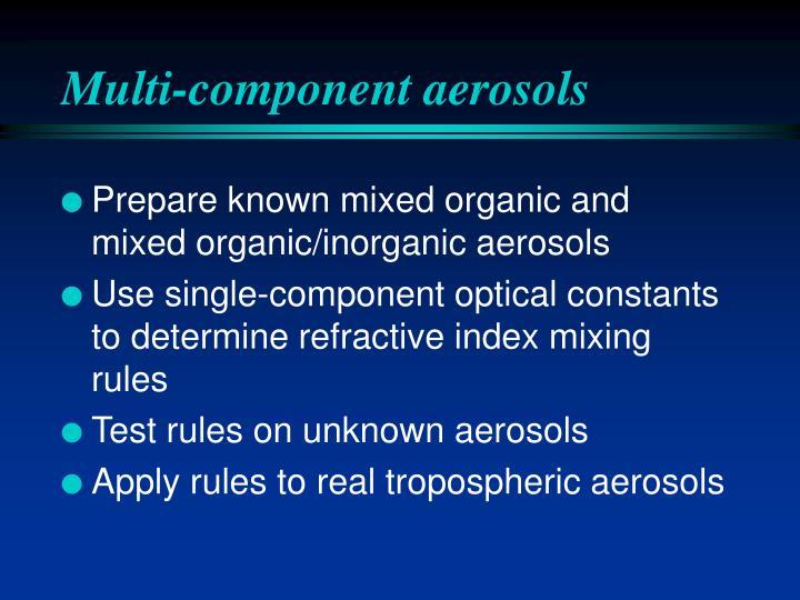 Multi-component aerosols