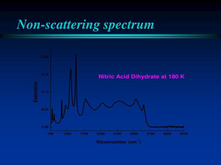 Non-scattering spectrum