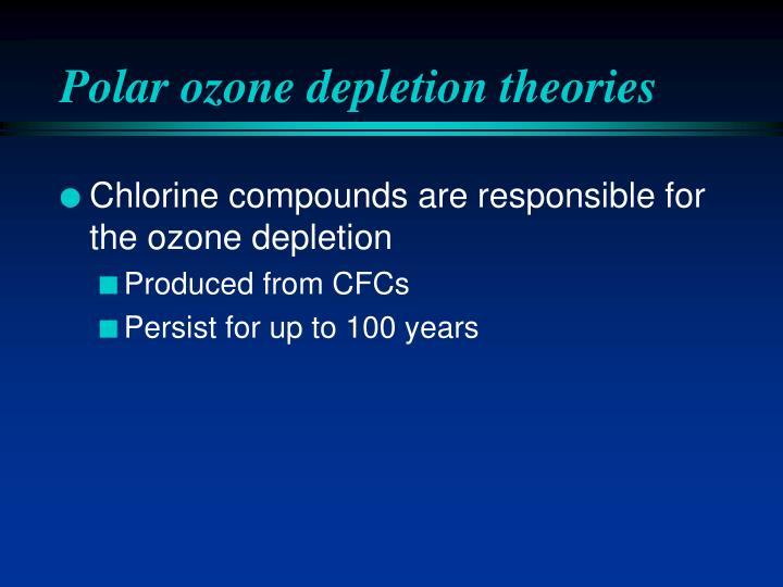 Polar ozone depletion theories