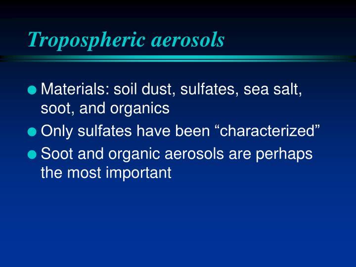 Tropospheric aerosols