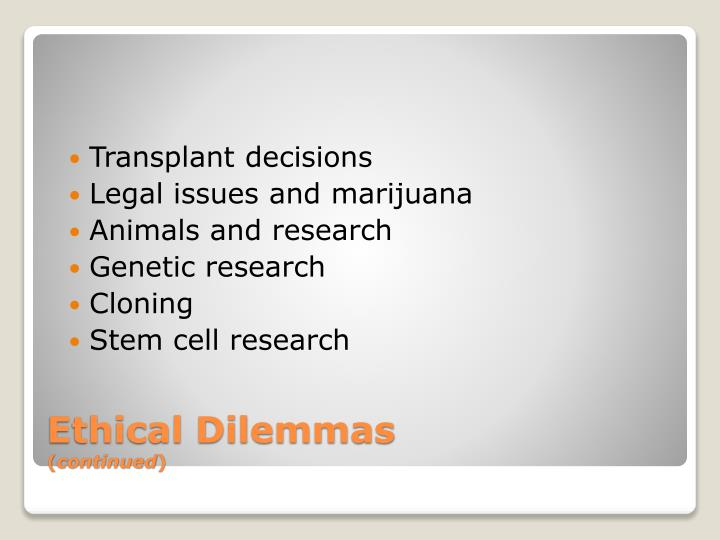 Transplant decisions